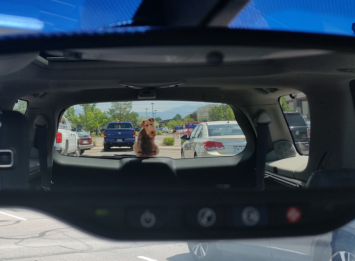 Car side mirror sticker design - Many People Ask If The Sticker Will Interfere With The View Of The Driver Here Is A Photo Of The Sticker As Seen Through The Rear View Mirror